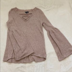 American Eagle sweater with bell sleeves